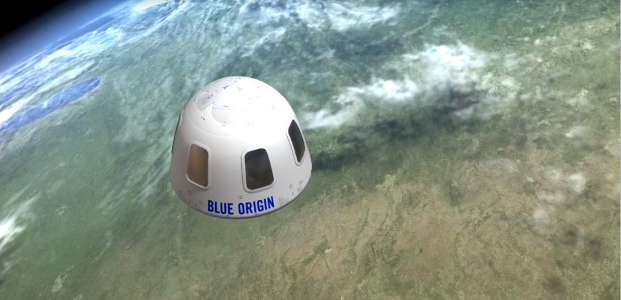 blue origin capsule art