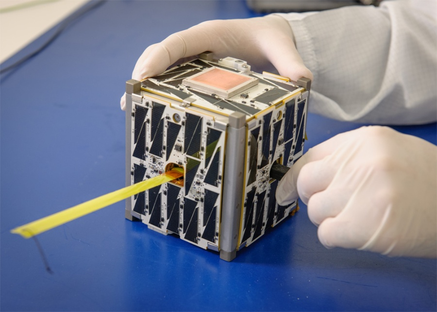 cubesat on table